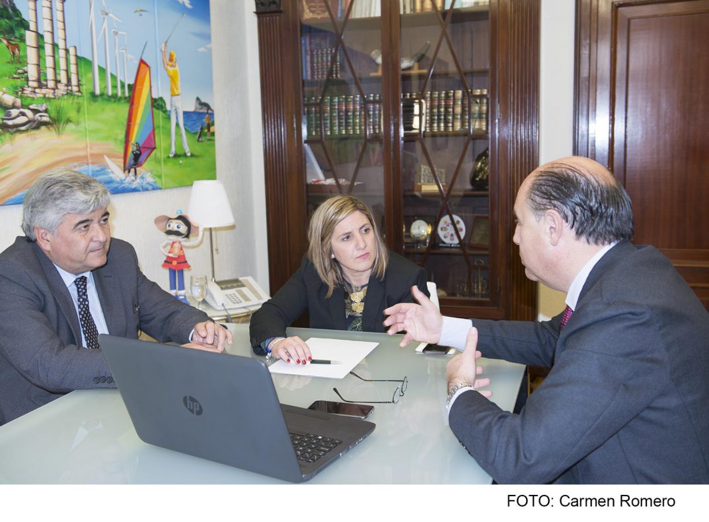 Irene García con responsables de Barbadillo