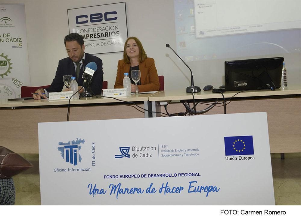 José Andrés Santos y Ana Carrera, Jornada de Internacionalización CEC
