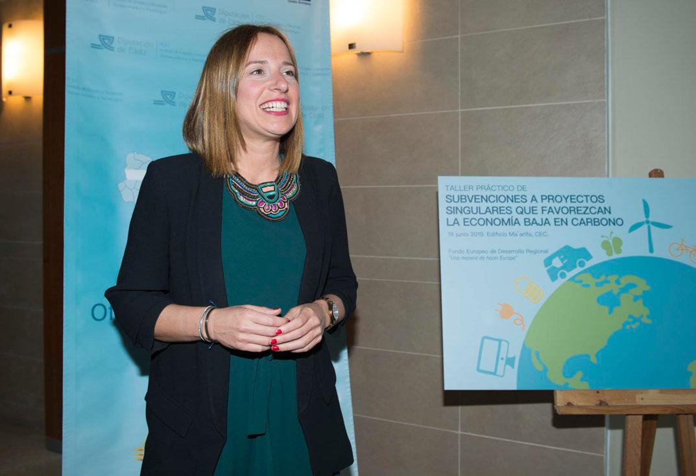 """Ana Carrera presenta el Taller Práctico """"Subvenciones a Proyectos Singulares que favorezcan una Economía Baja en Carbono (EBC)"""""""