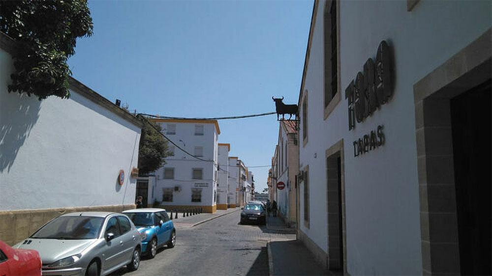 """Calle """"Los Moros"""", una de las zonas incluidas en el """"Pasillo Amable"""", El Puerto de Santa María"""