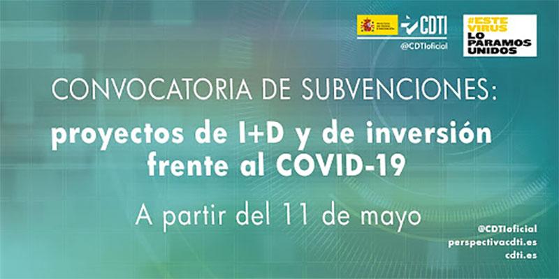 Convocatoria de Ayudas y Subvenciones para Proyectos de I+D frente a COVID-19