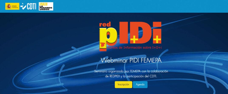 Webinar de la Red pIDi-FEMEPA sobre Acciones de Promoción y Comunicación, organizado por CDTI