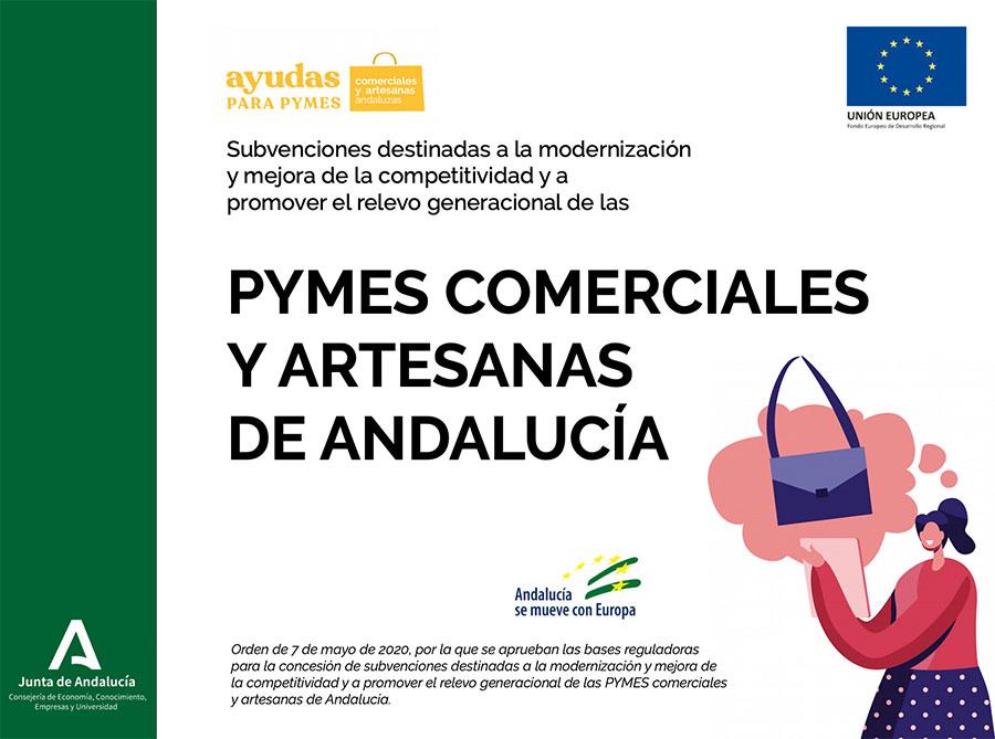 Ayudas para PYMES comerciales y artesanas de Andalucía
