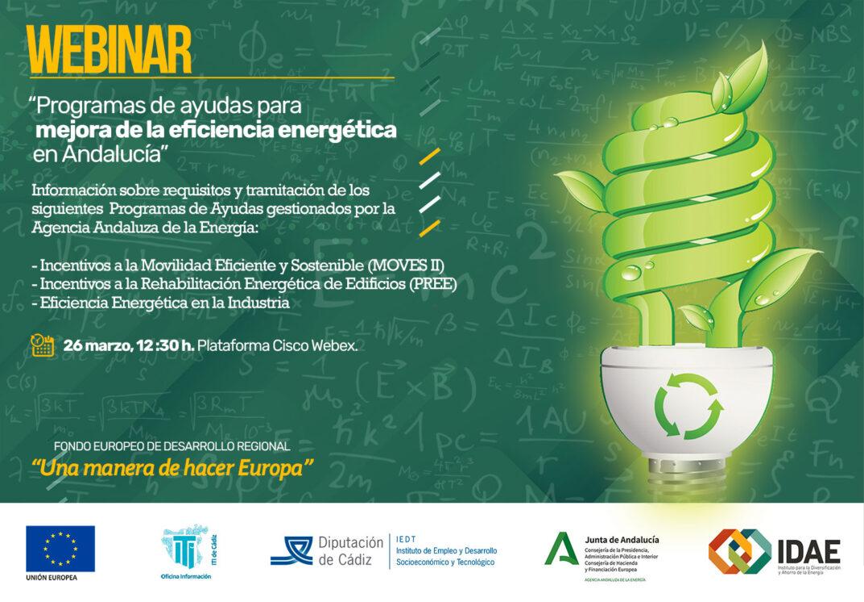 """WEBINAR: """"Programas de Ayudas para Mejora de la Eficiencia Energética en Andalucía"""""""