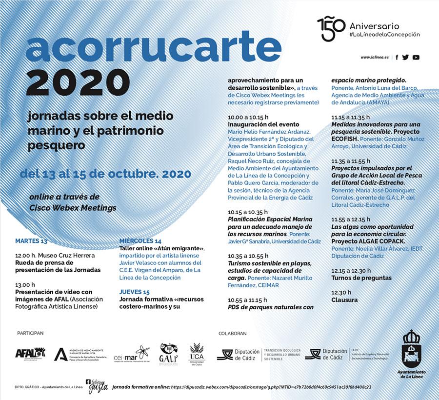 ACORRUCARTE 2020: Jornada sobre medios y patrimonio marino y su aprovechamiento para un desarrollo sostenible