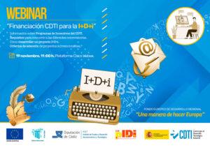 """WEBINAR: """"Financiación CDTI para la I+D+i"""" @ Online. Plataforma Cisco Webex."""