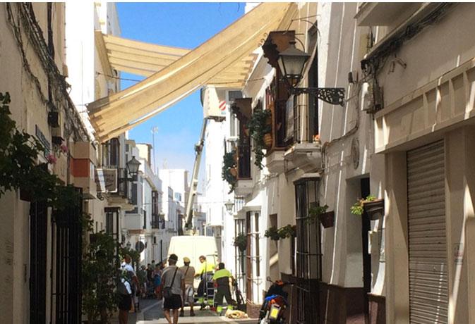 Calle Castelar. Rota.