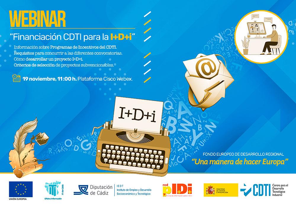 """WEBINAR: """"Financiación CDTI para la I+D+i"""""""