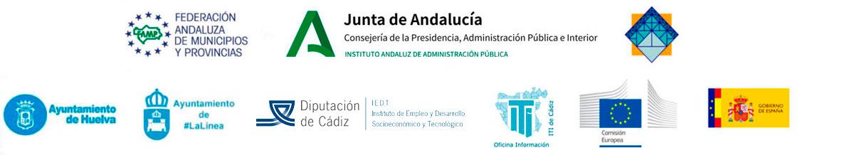 """Entidades organizadoras Jornada Online: """"Revisión entre Iguales. Las Estrategias de Desarrollo Urbano Sostenible Integrado de Andalucía""""."""