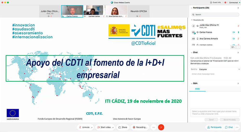 Intervención de Carlos Franco, Experto Técnico del CDTI del Ministerio de Ciencia e Innovación