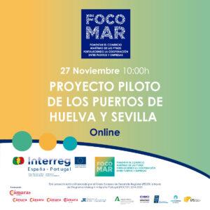 Jornada Online Proyecto FOCOMAR: Proyecto Piloto de los Puertos de Huelva y Sevilla @ Online (Plataforma Zoom)