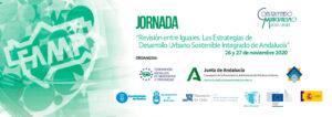 """Jornada Online """"Revisión entre iguales. Las Estrategias de Desarrollo Urbano Sostenible Integrado en Andalucía"""" @ Online (Plataforma Zoom)"""