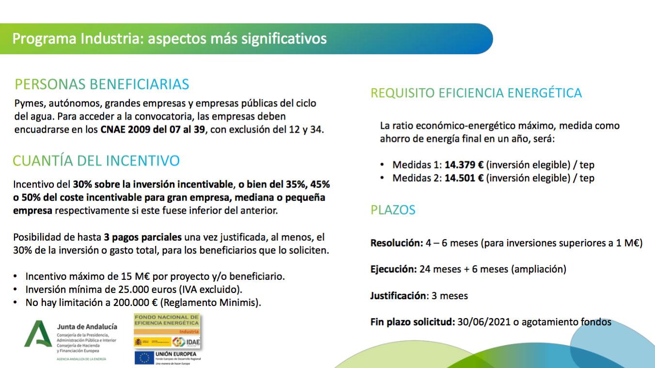 Javier Ariza desgrana los detalles del Programa de Eficiencia Energética de la Industria