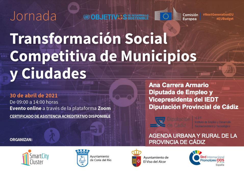 """Jornada Online """"Transformación Social Competitiva de Municipios y Ciudades"""""""