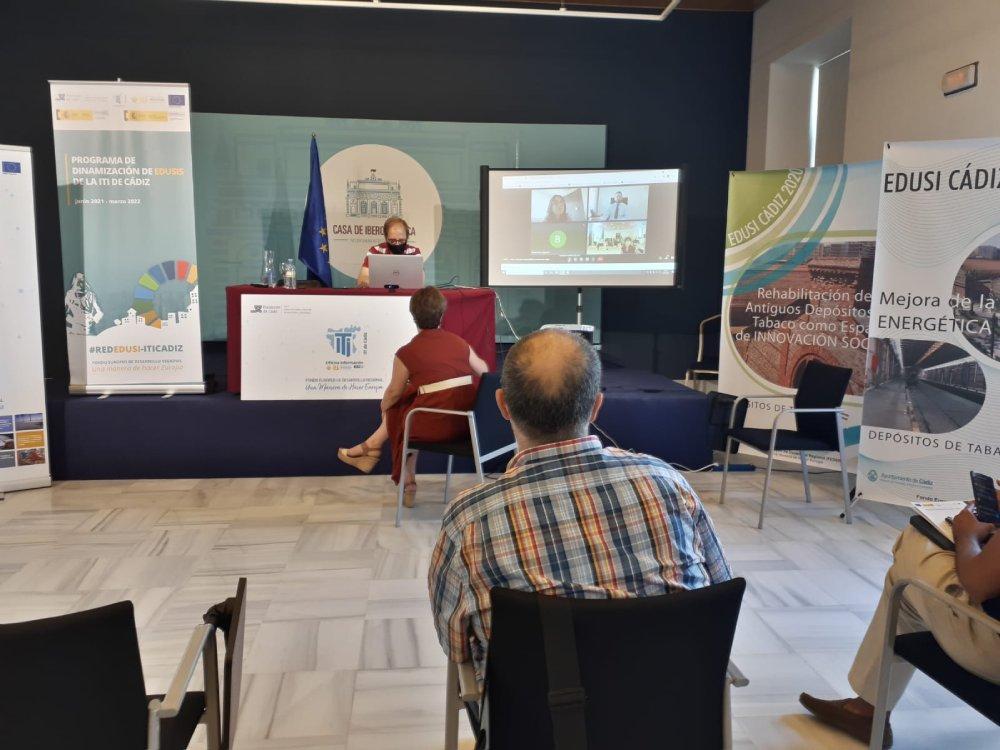 Intervención de Eugenia Bellver y Agustín Quesada, SG del Ministerio de Hacienda y el Ministerio de Política Territorial y Función Pública respectivamente, en el primer Encuentro de la Red EDUSI-ITI Cádiz